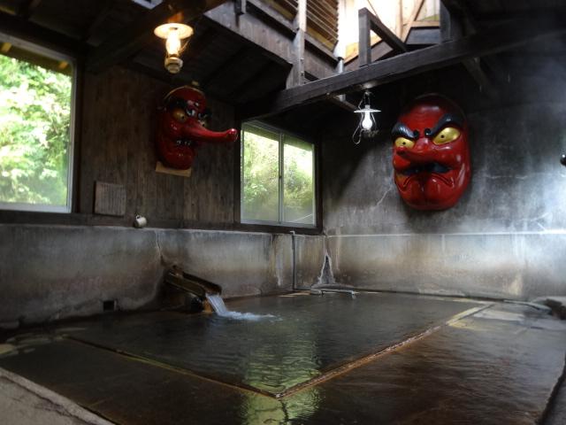 北温泉の天狗の湯