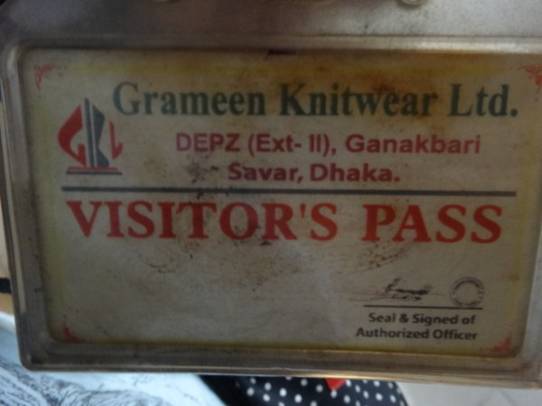 grameen knitwear visitor's pass