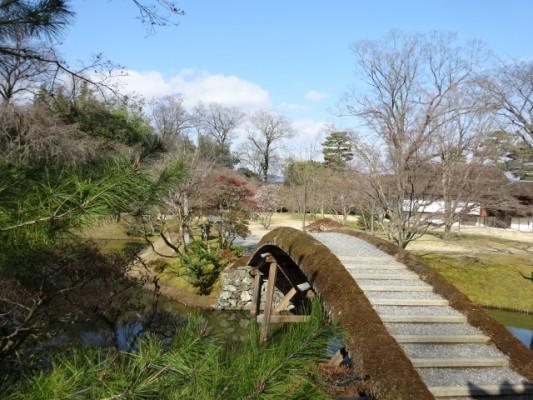 桂離宮 賞花亭の正面の橋