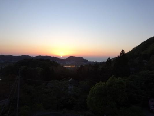 城福寺からの夕日